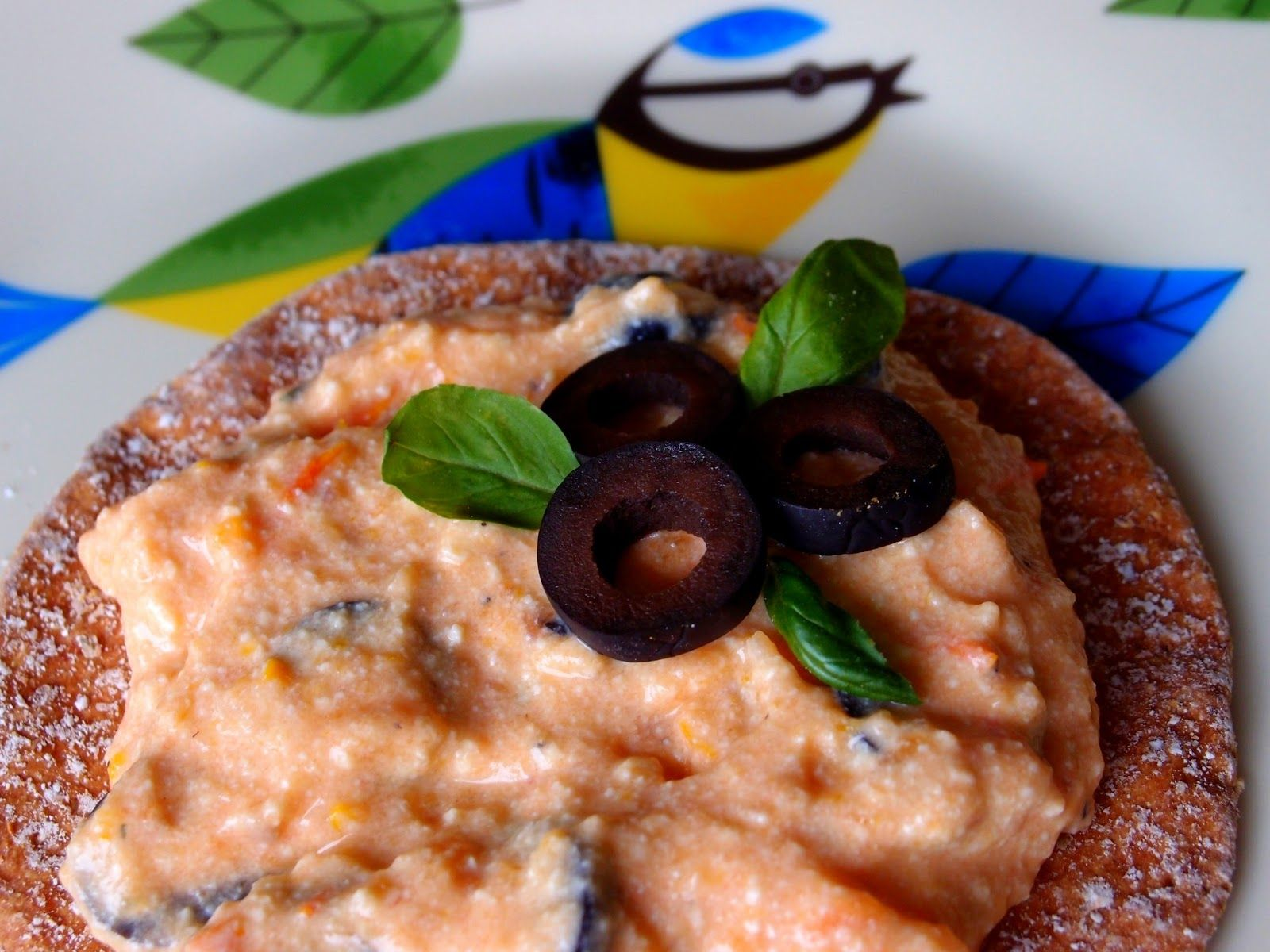 The VegHog: Vegan tomato and olive tofu spread