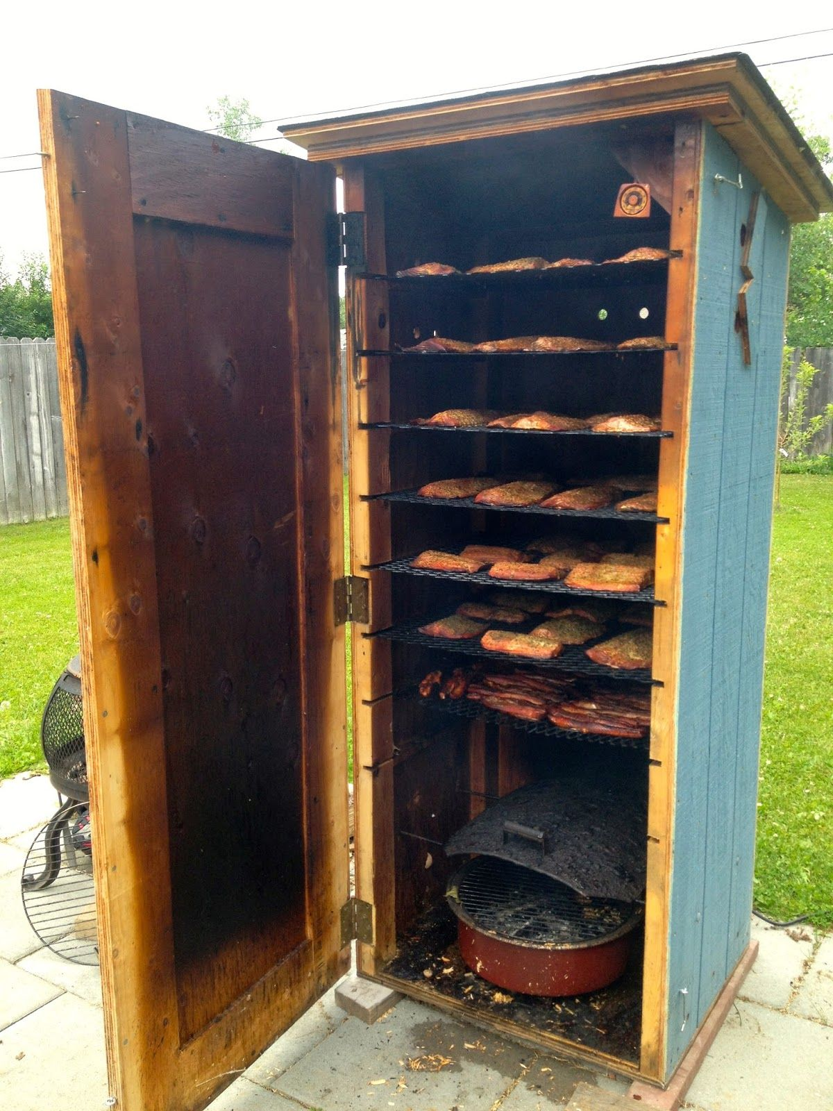 Stand Up Smoker Designs : Homemade meat smokers to add smoked flavor to meat or fish