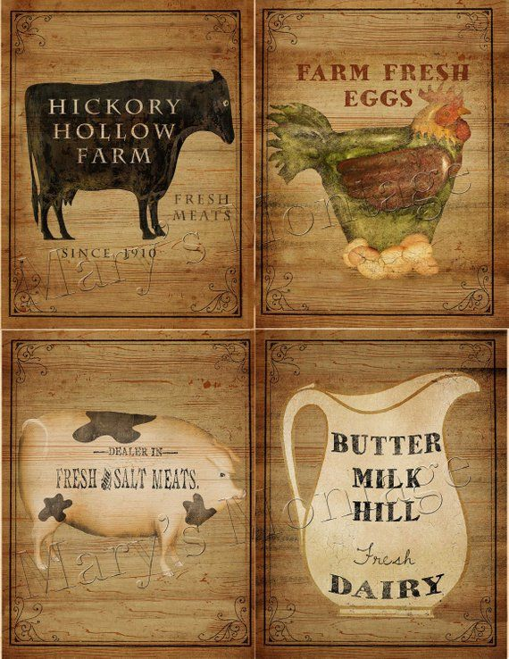 Farm House Signs Sheet 8.5x11 Download U0026 Print Decorazioni Per Casali Di  Campagna, Casa