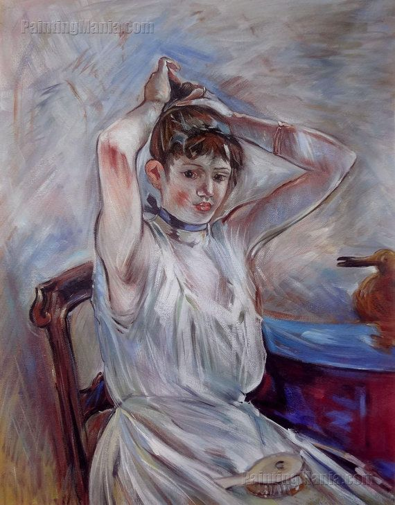 The Bath  Berthe Morisot hand-painted oil by PaintingMania on Etsy