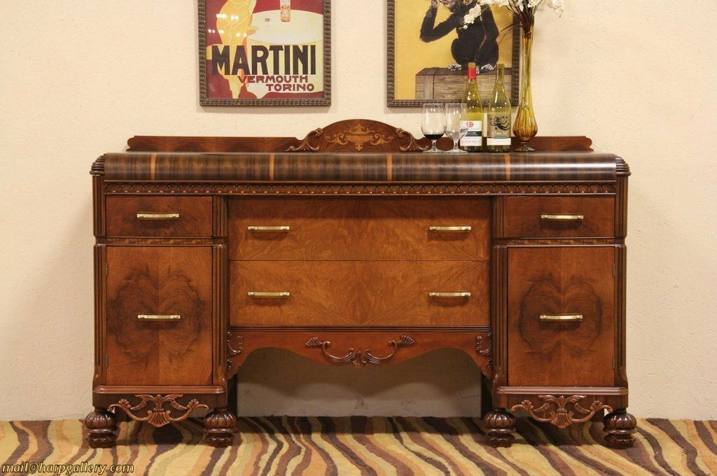 Stunning Art Deco 1930 S Waterfall Sideboard Or Buffet
