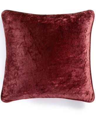 "Macy's Decorative Pillows Brilliant Martha Stewart Collection Solid Velvet 20"" Square Decorative Pillow 2018"