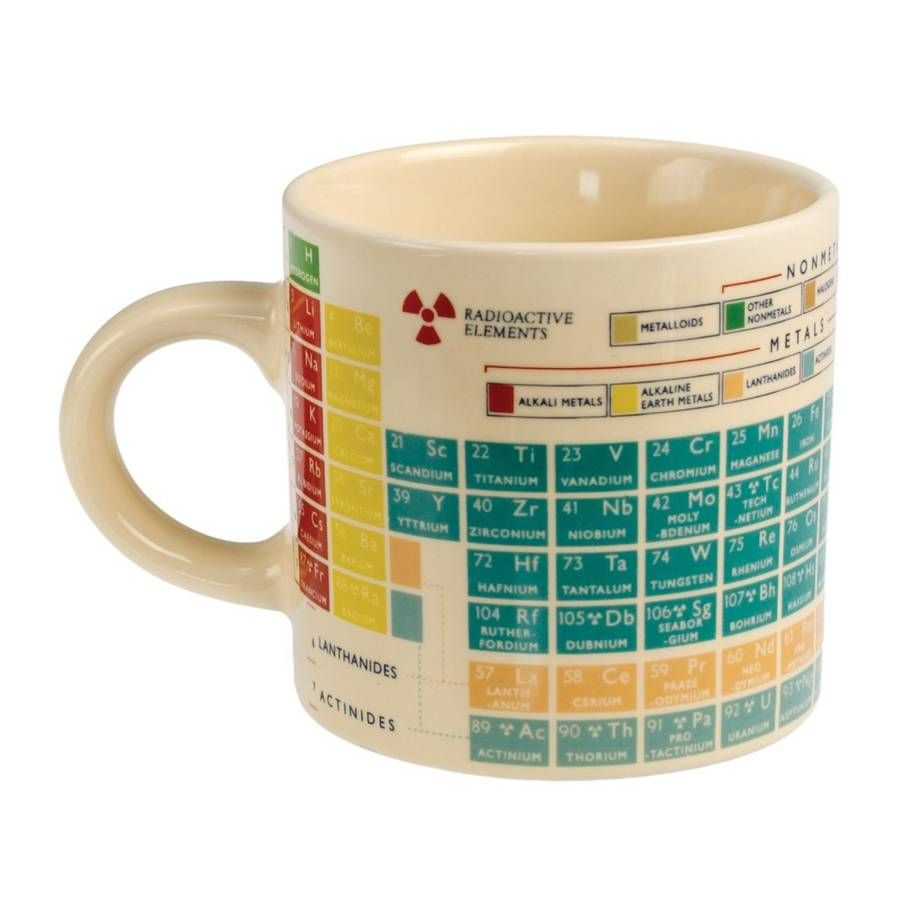 Chemistry Revision Mug Mugs Periodic Table Of The Elements Periodic Table