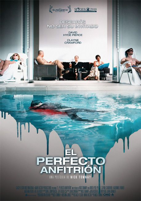 """cartel de la película """"El perfecto anfitrión"""" Desde el principio hasta el final """"sorpresa!"""""""