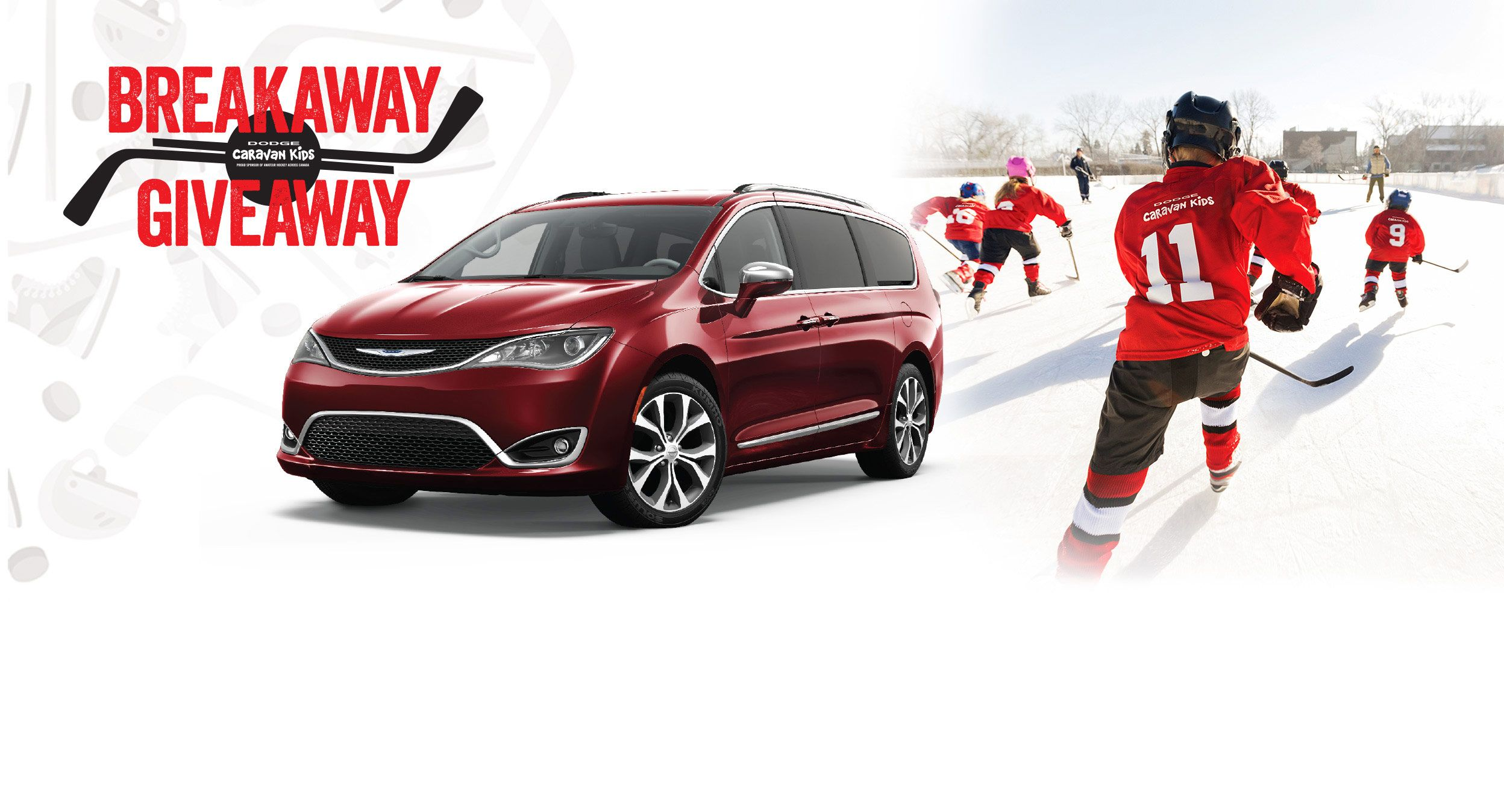 Win Dodge Grand Caravan Breakaway Giveaway Contest Enter Below For Your Chance To 5 000 Local Minor Hockey Ociation And A 2017 Chrysler