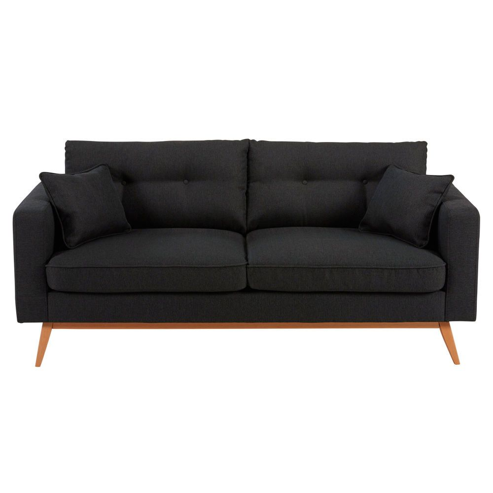 Canape Style Scandinave 3 Places Gris Anthracite Gray Sofa Sofa Furniture