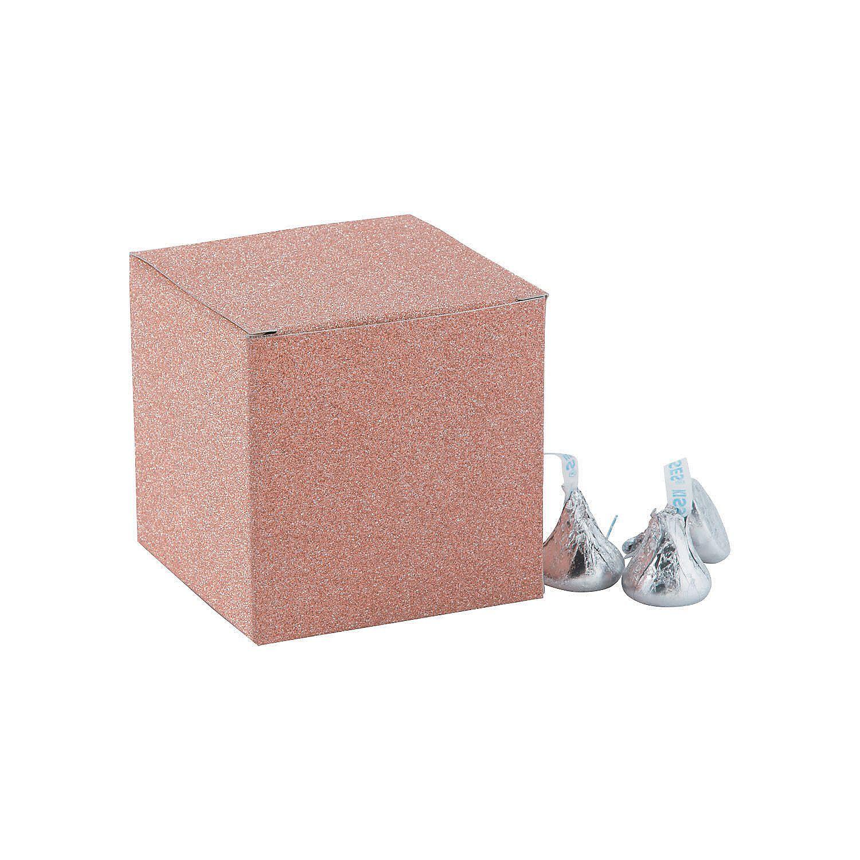 Mini Rose Gold Glitter Favor Boxes | Favors, Wedding stuff and Wedding