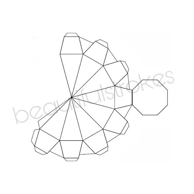 Diys Printable Template For 3d Paper Diamond Paper Diamond 3d Paper Template Printable