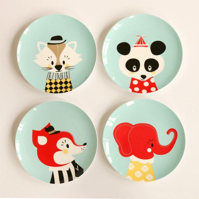 8 Inch Cartoon Cute Bone China Dishes Plates Steak Ceramic Breakfast Dish Salad Fruit Children Table Zhivopis Po Keramike Zhivopis Na Keramike Dizajn Tarelki