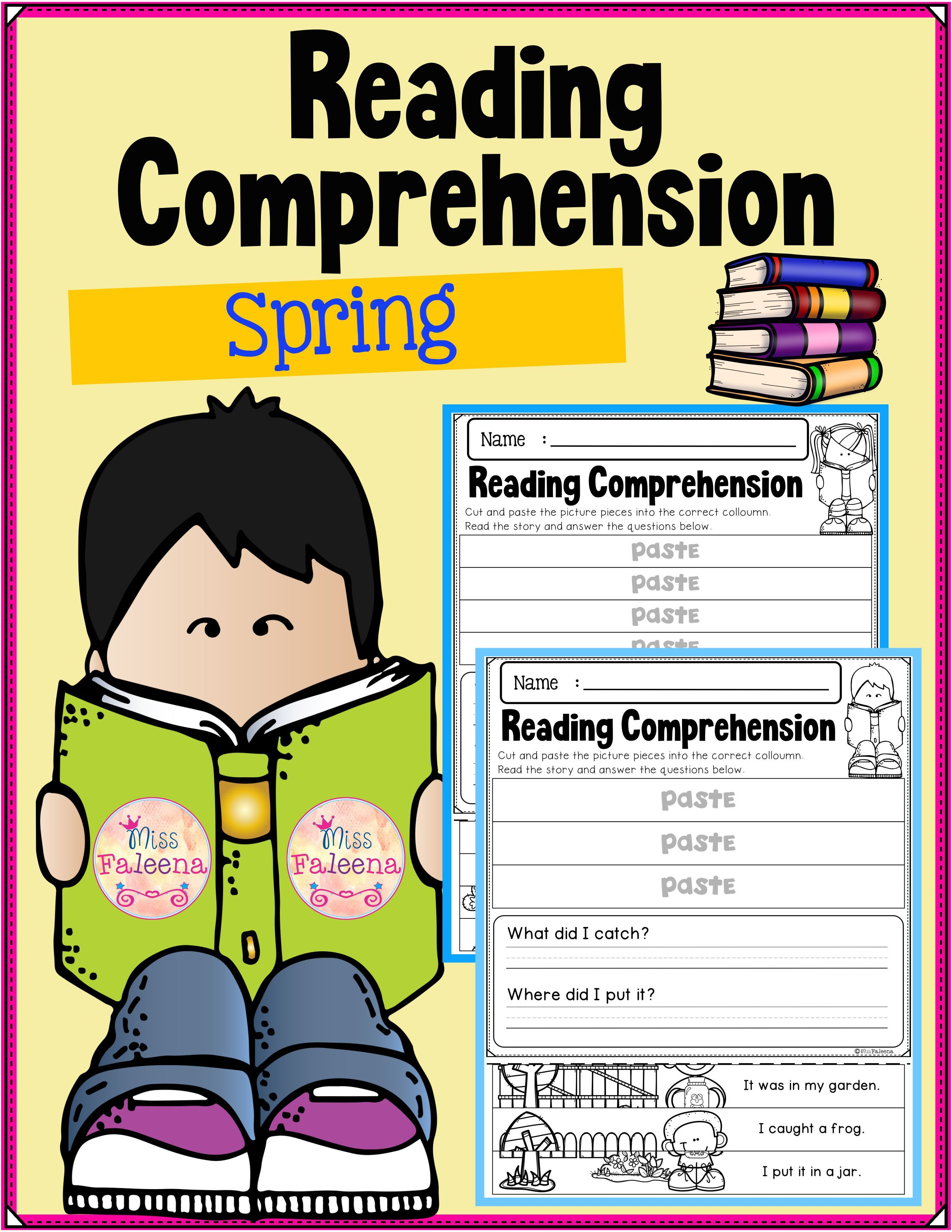 Spring Reading Comprehension Puzzles