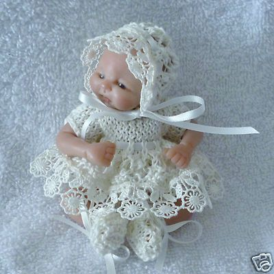 Hand Knitted Dolls Clothes 4 5 Quot Ooak Baby Knitted Dolls