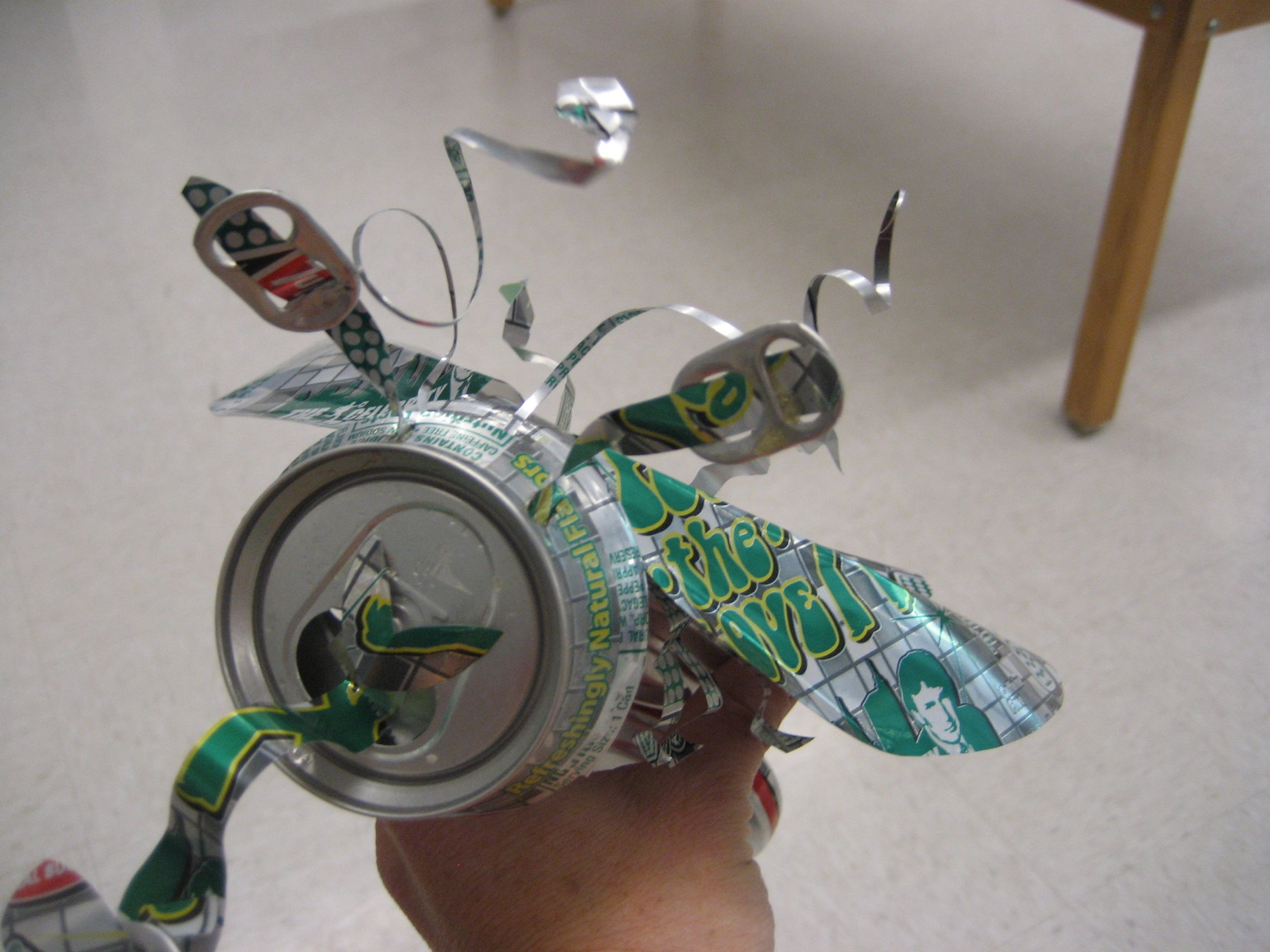 Soda can insect recycle art project middle school how for Investigatory project recyclable materials