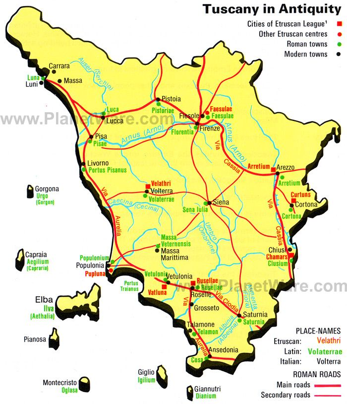 Tuscany On Map Of Italy.Map Of Tuscany Towns Italy Major Italian Cities In Tuscany Region
