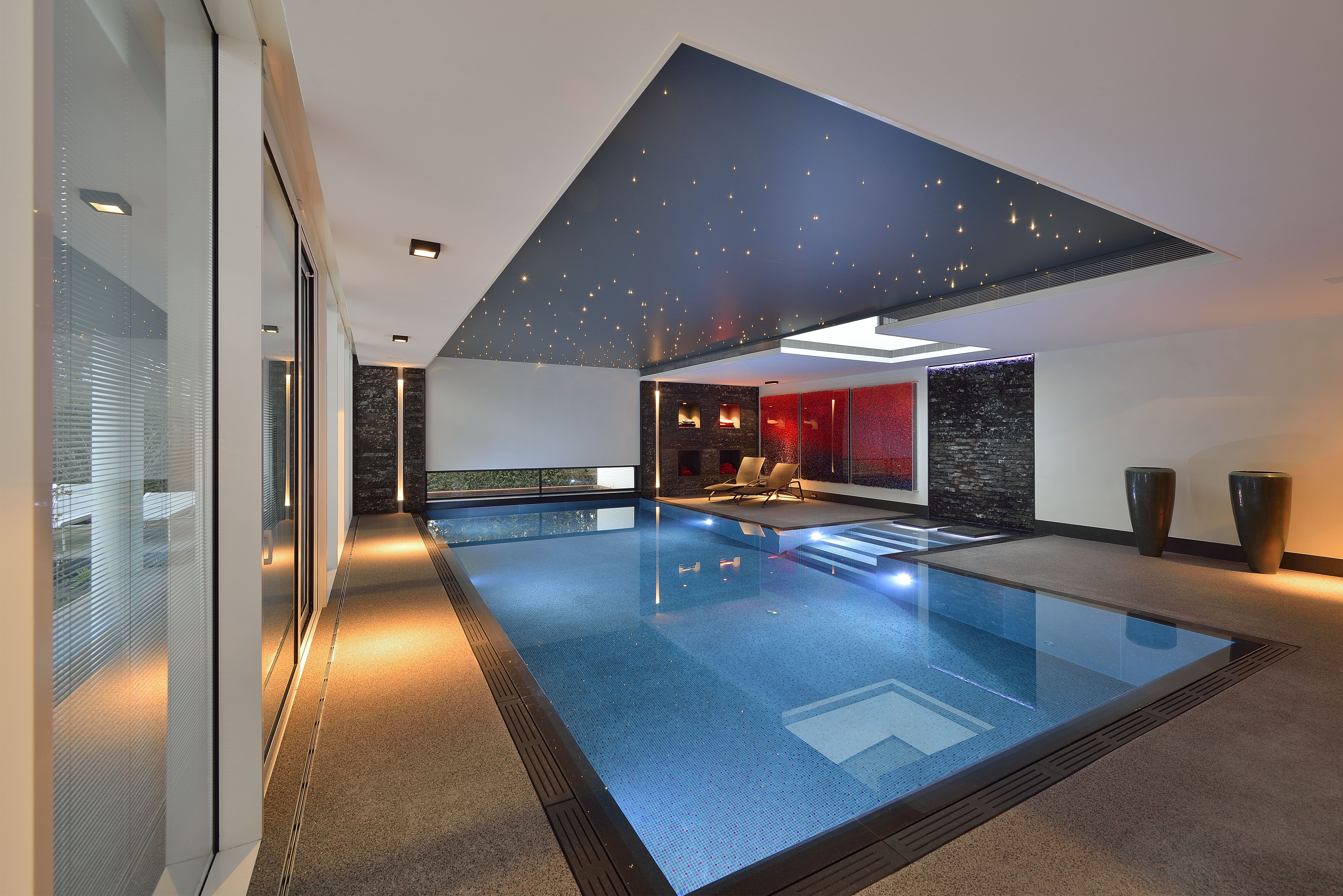 domotica swimmingpool, domotica zwembad, binnenzwembad, villa, home automation, lichtplan, lightdesign, home architecture, interieur, interior