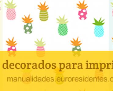 Papel decorado con estampado tropical Manualidades.euroresidentes