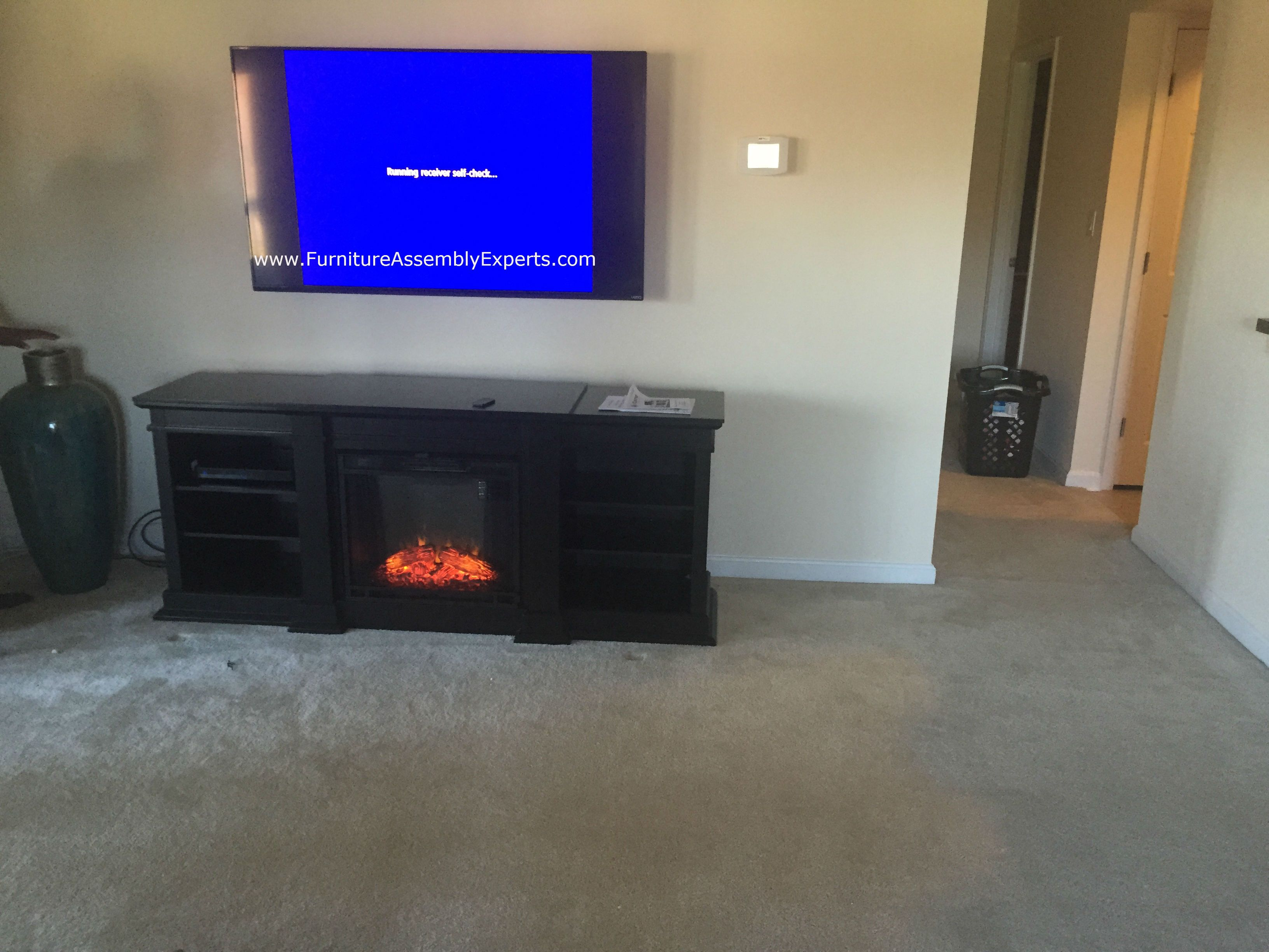 Amazon Fireplace Tv Stand Assembled For A Customer In Raleigh Nc