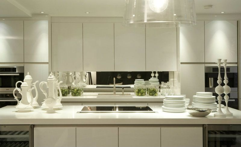 Residential Projects By Kelly Hoppen In UK. Kitchen WhiteStudio DesignModern  ...