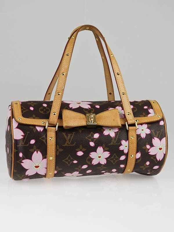 d46078a732a6 Louis Vuitton Limited Edition Monogram Cherry Blossom Papillon Bag ...