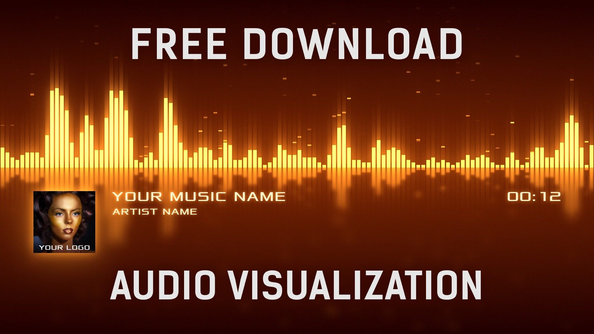 free audio visualization after effects template free download