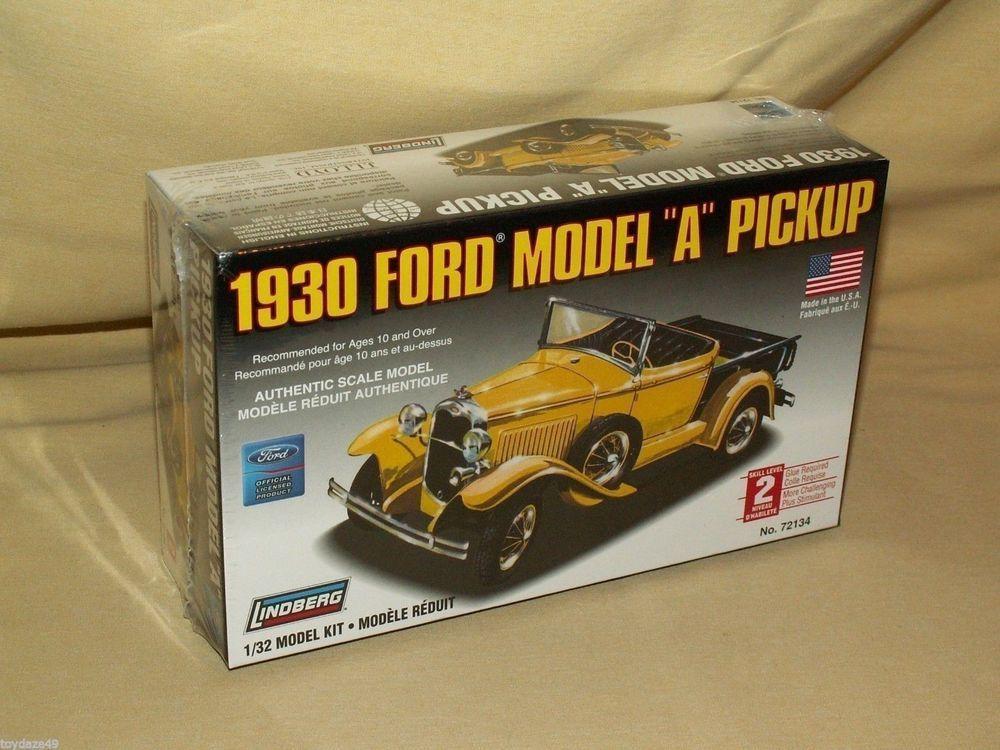 FORD MODEL A 1930 LINDBERG CAR MODEL KIT PICKUP TRUCK NO 72134 NEW ...