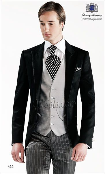 Traje de novio negro 744 ONGala Wedding suit