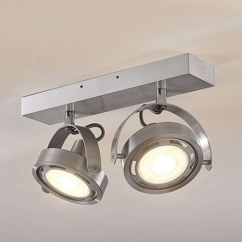 Led Spot Munin Dimbaar Aluminium 2 Lamps Led Verlichting Plafondlamp