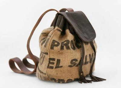 c2b89beae7 recycled coffee sack bags from Lost Property of London