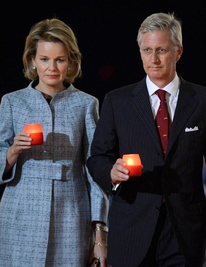 King Philippe, Queen Mathilde and Princess Elisabeth