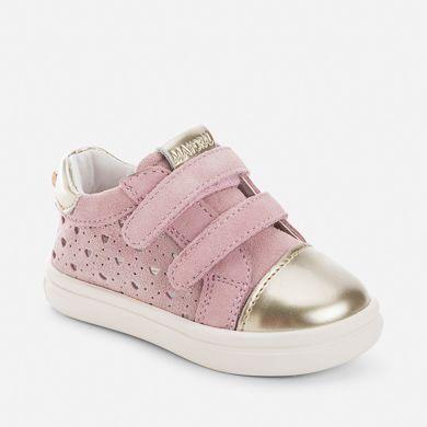 54f2f8c52 Zapatilla bebé niña con velcro y corazones | SHOES (GIRLS ...