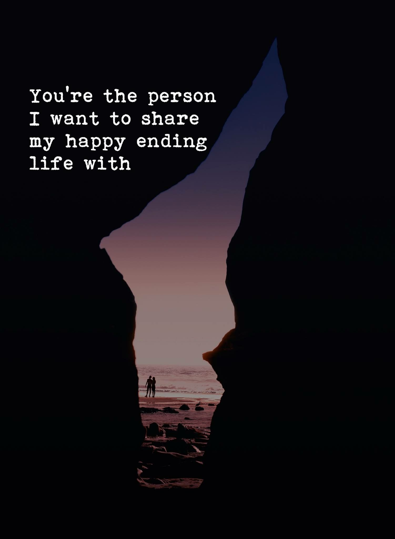 Want to spend the last days of my life with you.   Love, emotions