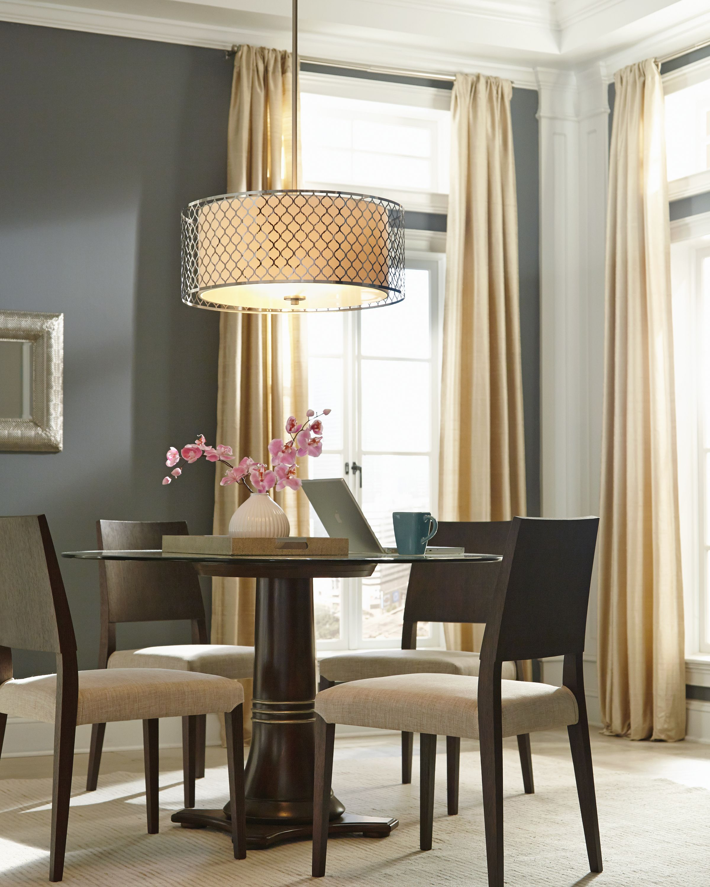 Dining light shaped to fit your space. Find this collection at https://