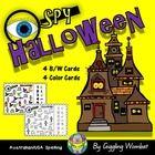 Halloween I Spy Mats by Giggling Wombat | Teachers Pay Teachers