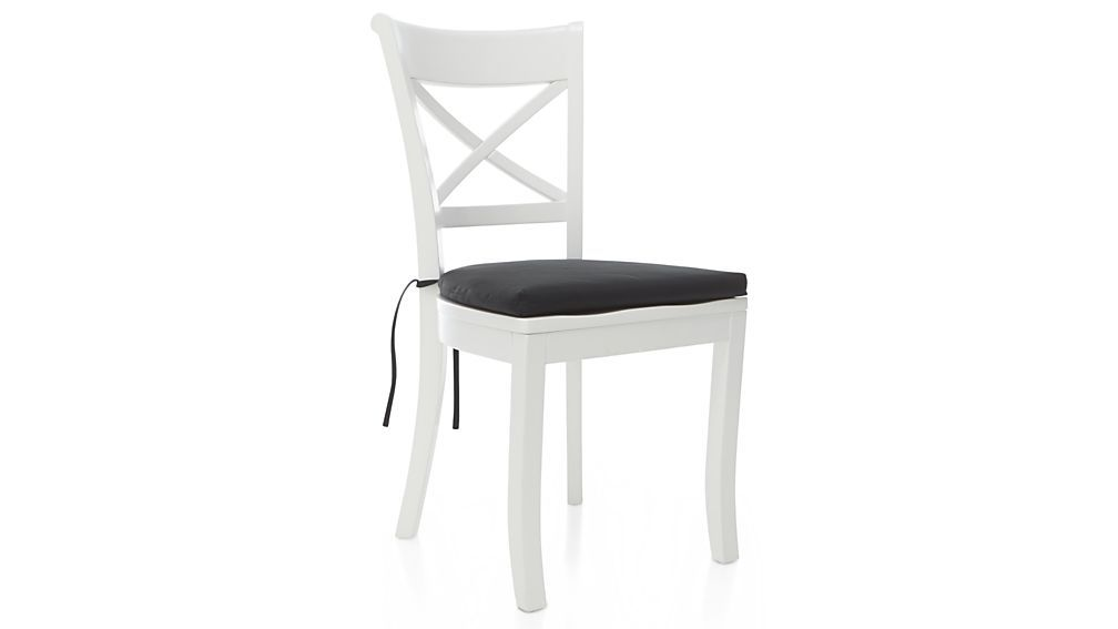 Make Your Vintner Side Chair Even Comfier With The Addition Of Our Optional  Cotton Cushion With Tie Attachments. The Vintner White Side Chair Is A Crate  ...