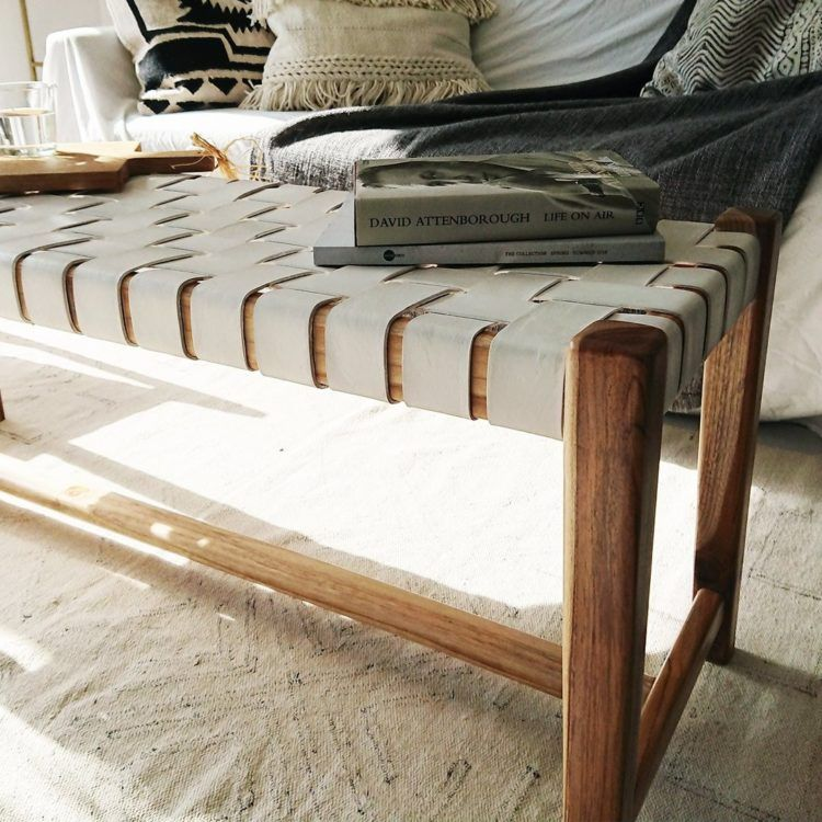 If You Buy One Thing Woven Leather Bench Leather bench