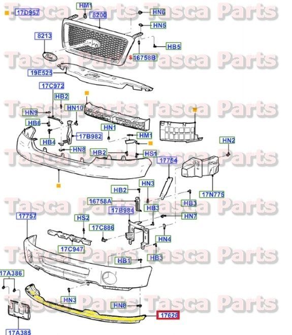 New Genuine Front Bumper Valance Panel 2006 2008 Ford F150 6l3z