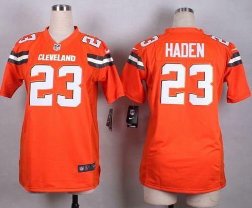 Nike Browns  23 Joe Haden Orange Alternate Women s Stitched NFL New Elite  Jersey And T.Y. ab4ce32d2