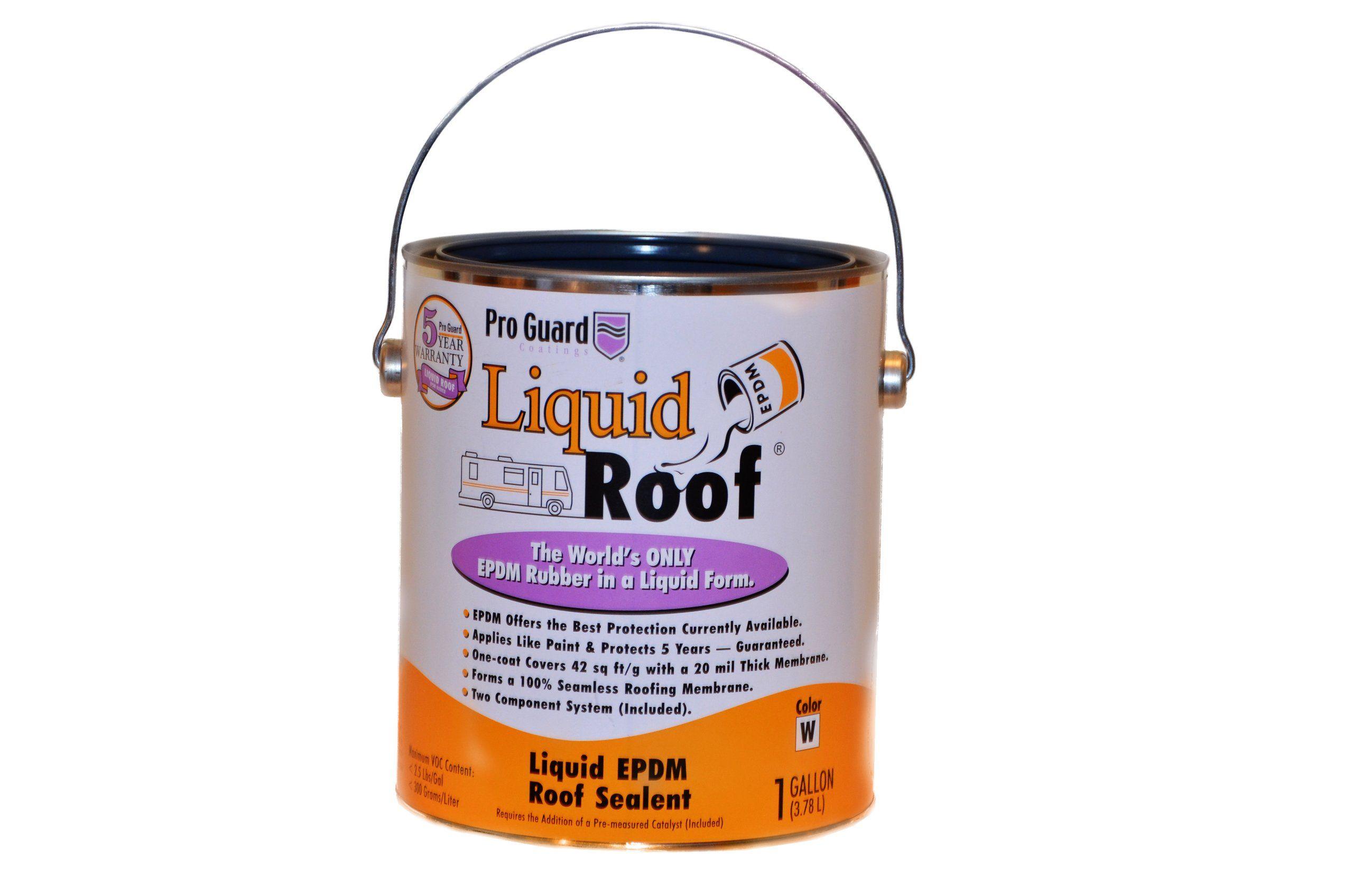 Liquid Roof Rv Roof Coating Repair 1 Gallon Wall Surface Repair Products Amazon Com Liquid Roof Roof Repair Diy Roof Coating
