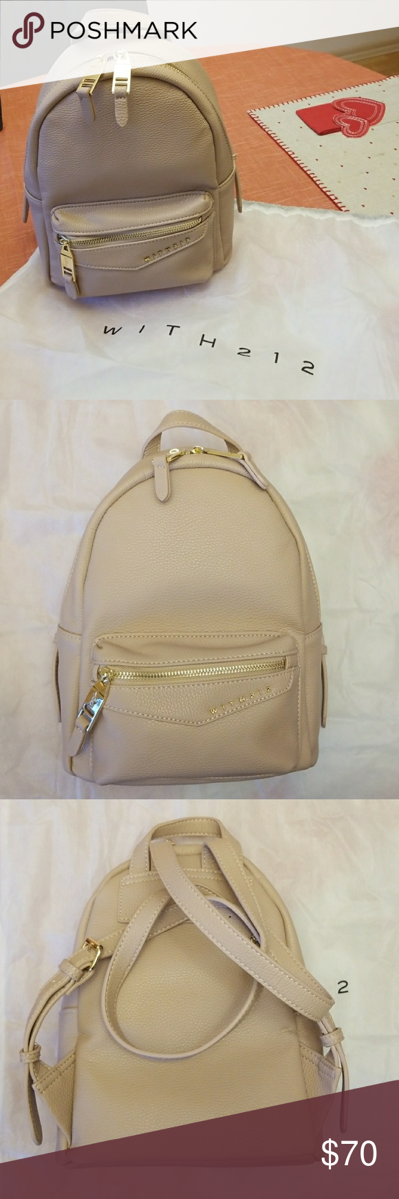 07270f3113 WITH212 Bleecker mini backpack Brand new without tags WITH212 vegan pebble  leather Bleecker mini backpack in