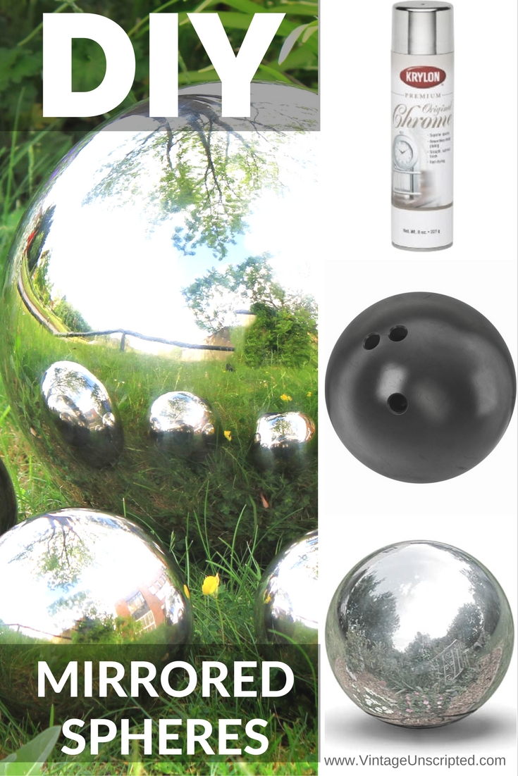 How to Make Your Own Mirrored Spheres for Your Garden or Home is part of Garden balls, Bowling ball garden, Bowling ball yard art, Garden crafts diy, Diy garden decor, Garden spheres - Add an element of surprise and whimsy to your garden, front steps, or even to a room inside your home with mirrored spheres! What You Will Need Bowling Balls (found at thrift stores …