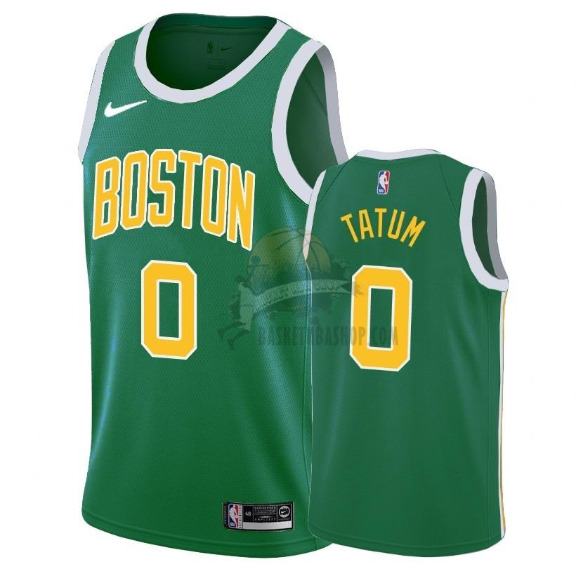 Maillot Nba Earned Edition Boston Celtics No 0 Jayson Tatum Vert 2018 19 Jayson Tatum Boston Celtics Tatum