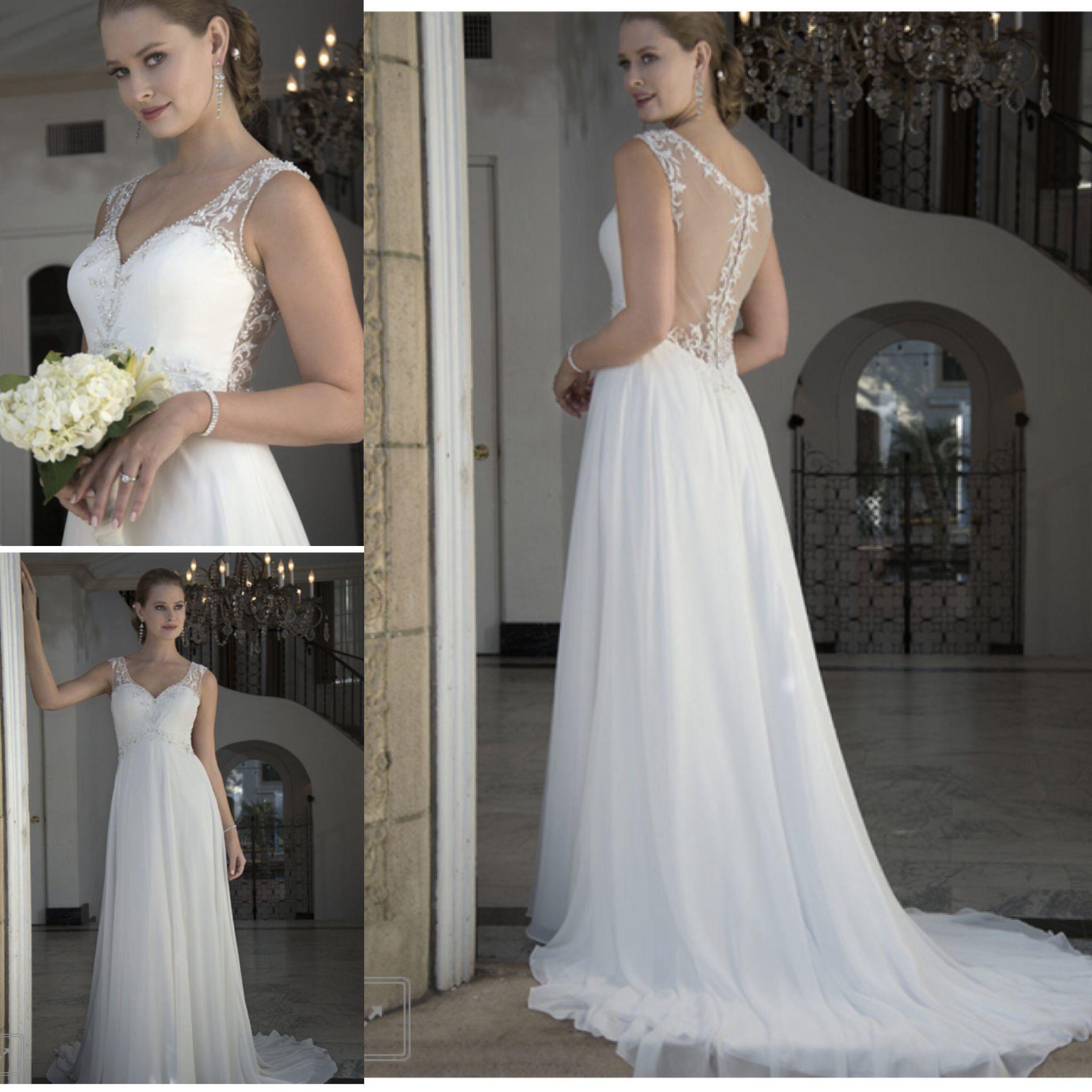 1b2cf45e5de Gorgeous back details on a soft and flowing empire gown. Venus Bridal style  6642