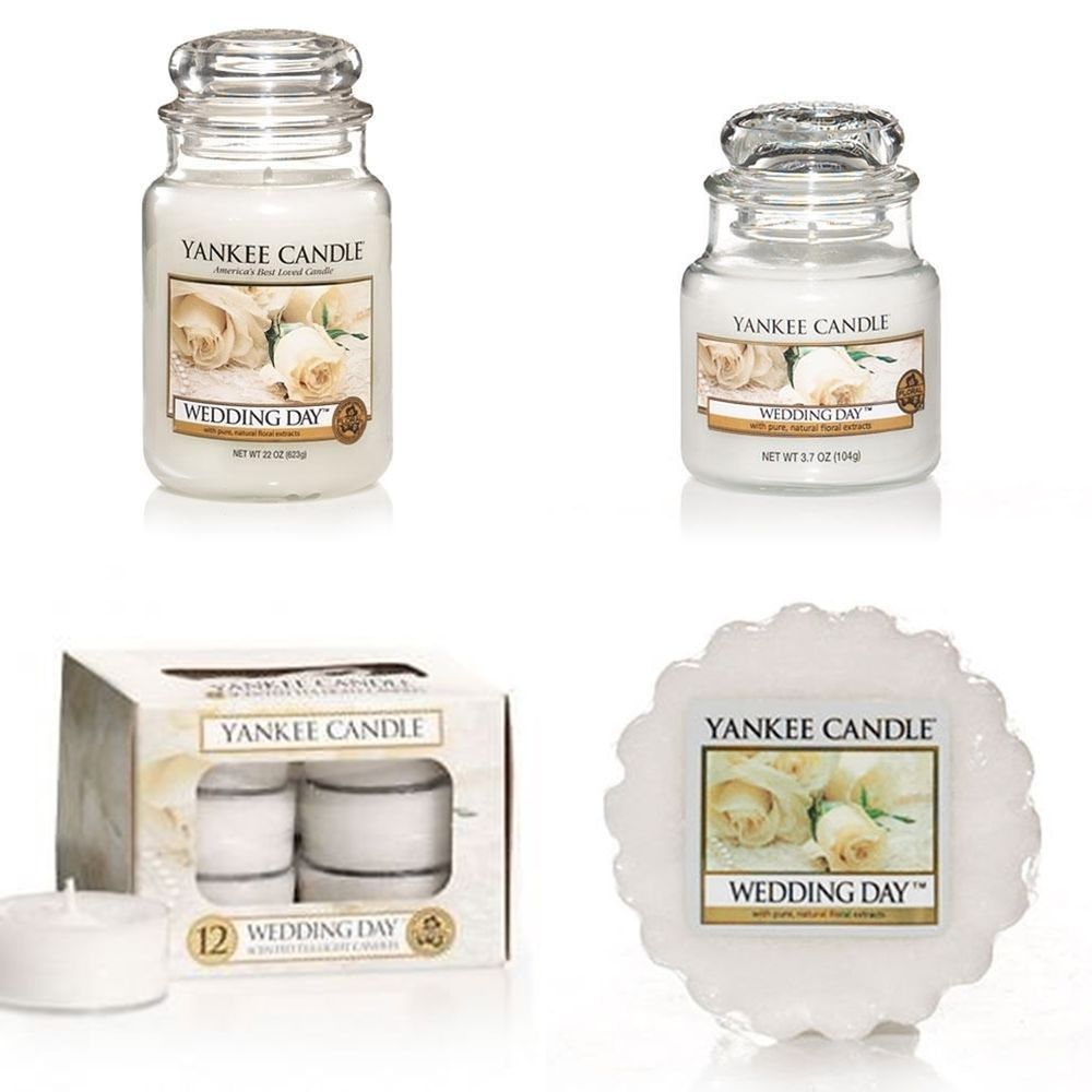 Yankee Candle Wedding Day Small/Medium/Large Jar ,Tea Lights ,Tarts ...
