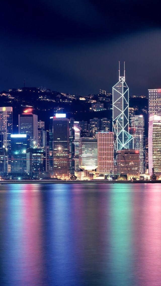 Hong Kong Skyscrapers Iphone 5s Wallpaper Download
