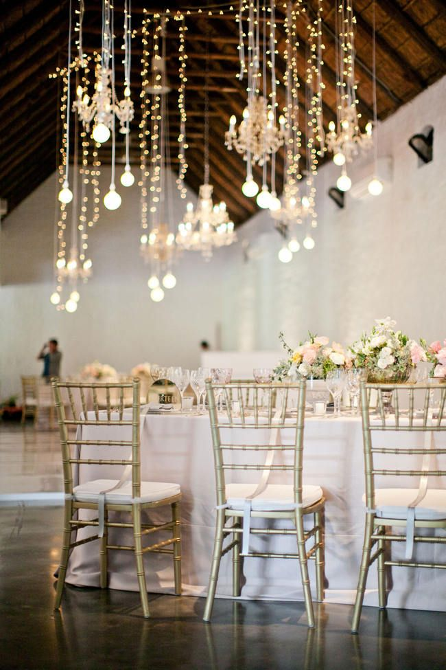 Suspended Hanging Wedding Reception Decor // Romantic South African Molenvliet Wedding in Pink and Ivory - Moira West Photography