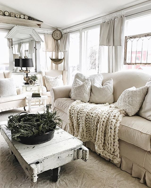 farmhouse living room all from amazon  shabby chic living