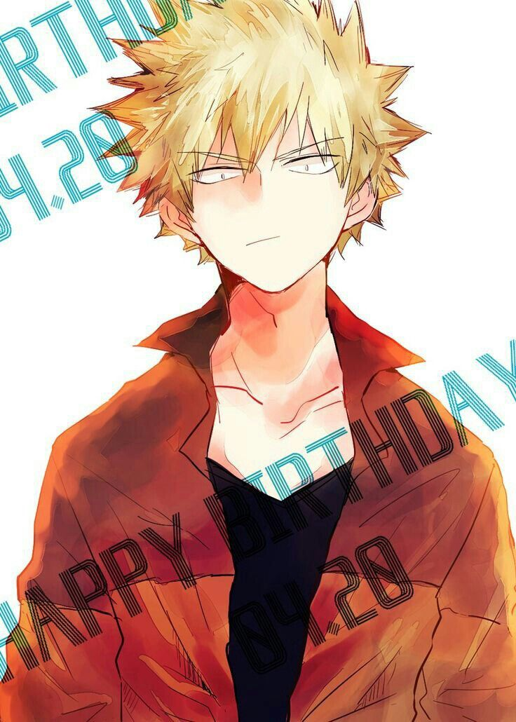 Katsuki Bakugou Happy Birthday April 20 My hero, Hero, Anime