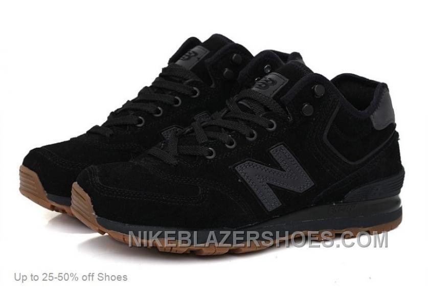 new balance 574 hombres negra piel