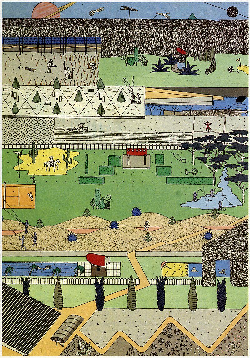 Oma Parc De La Villette Diagram Water Level Controller Circuit Proposal For Paris France 1984 Via Rndrd