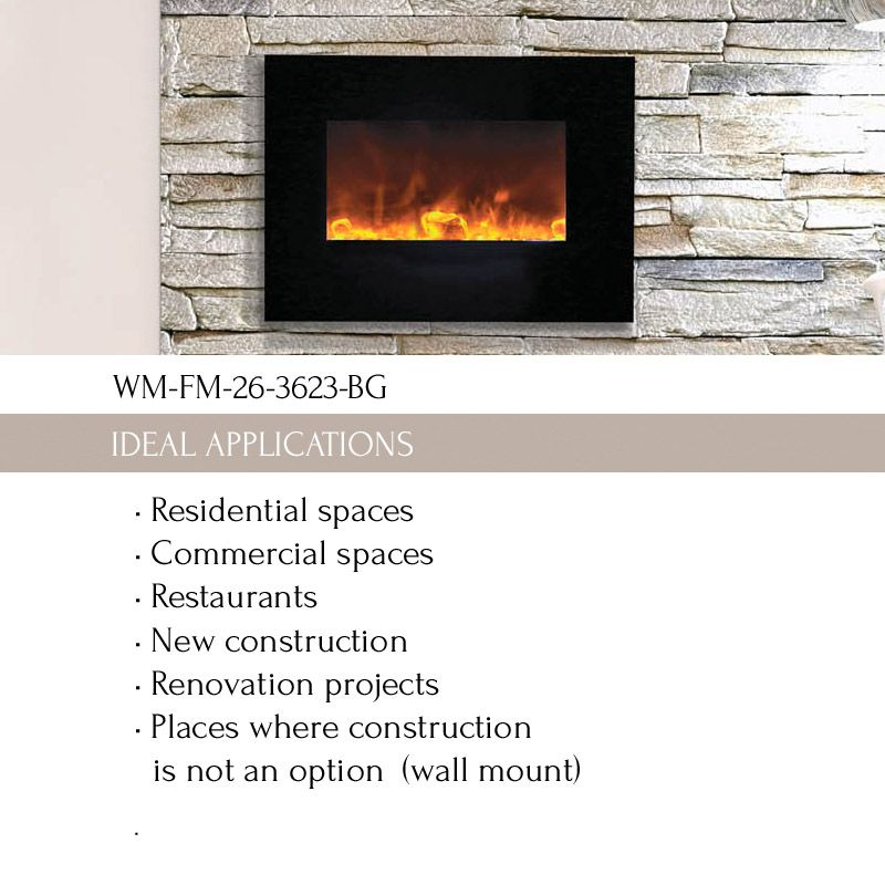 Wm Fm 26 3623 Bg Electric Fireplace The Wm Fm 26 3623 Bg Is A