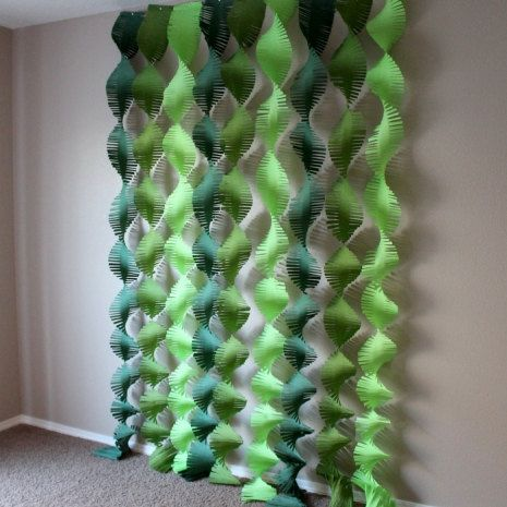 Green Variety Backdrop Streamers by Frolicpartyshop2 on Etsy